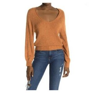 ABOUND Brown Amber V-Neck Sweater NWT ~ Size XXS